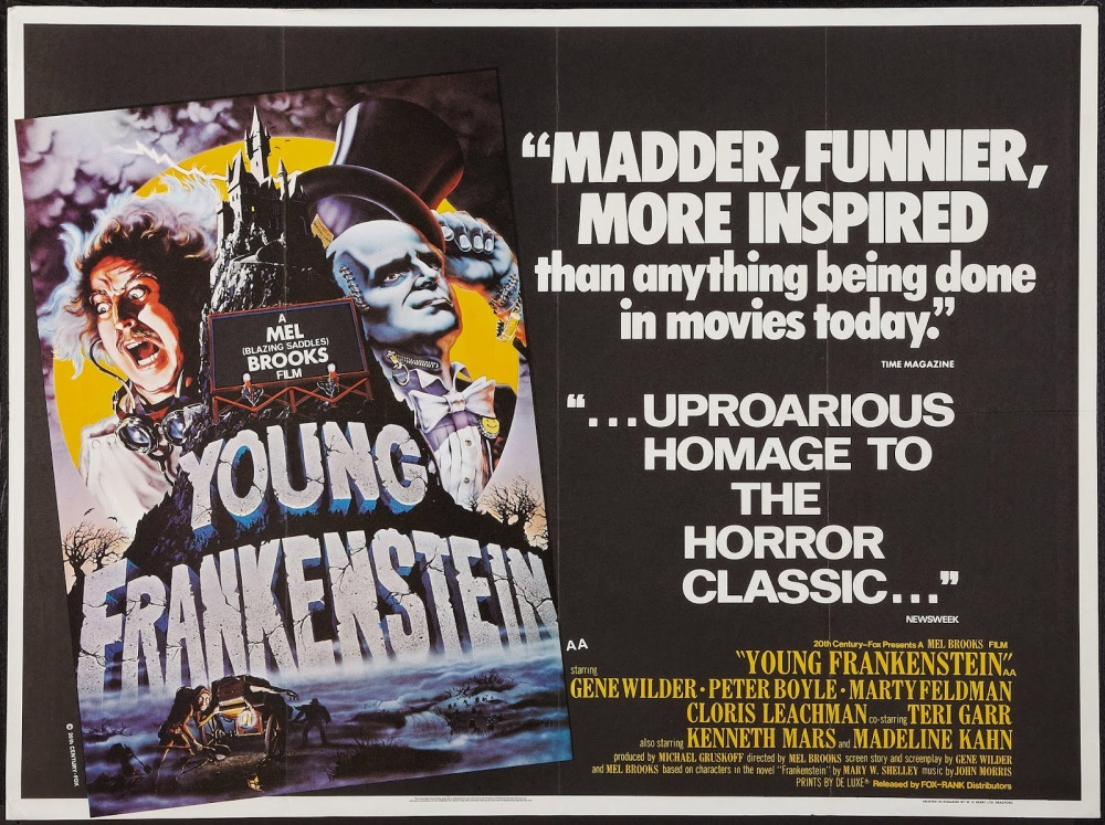 Image result for Young Frankenstein poster