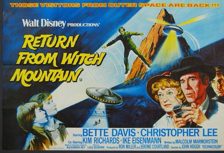 space1970: RETURN FROM WITCH MOUNTAIN (1978) Poster Art