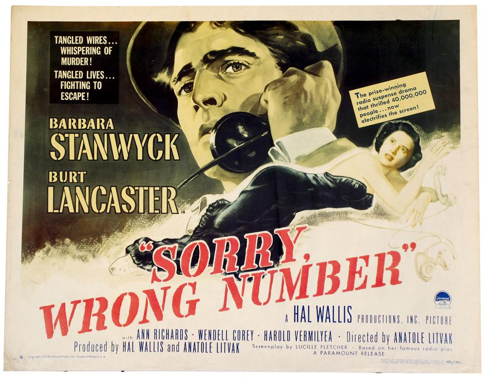 Cinema Romantico: Friday's Old Fashioned: Sorry, Wrong Number (1948)